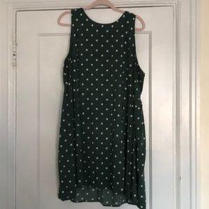 Polka Dot Green Old Navy Swing Dress